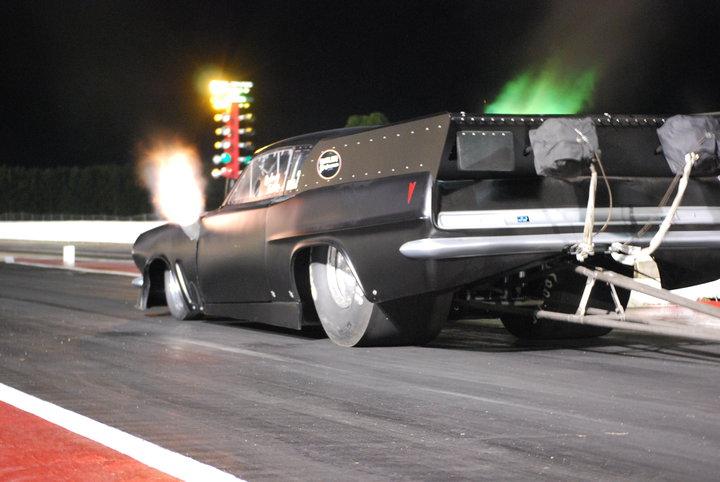 rodney butler 1963 Pontiac ProMod Tempest spitting flames