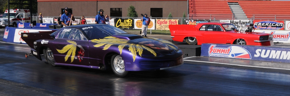 John Welter Turbo Pontiac Firebird vs Mike Cooper at Norwalk 2010