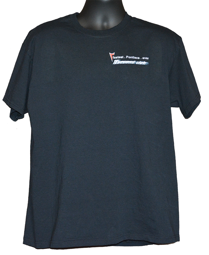 Pontiac T shirt 11 second club front