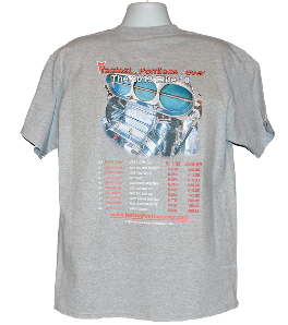 Pontiac t shirt Elite 10 fastest Pontiacs ever oxford back for showcase
