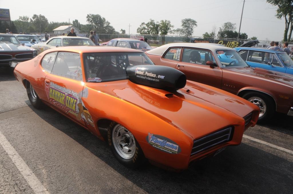 Scott Fischer 1969 GTO in staging lanes