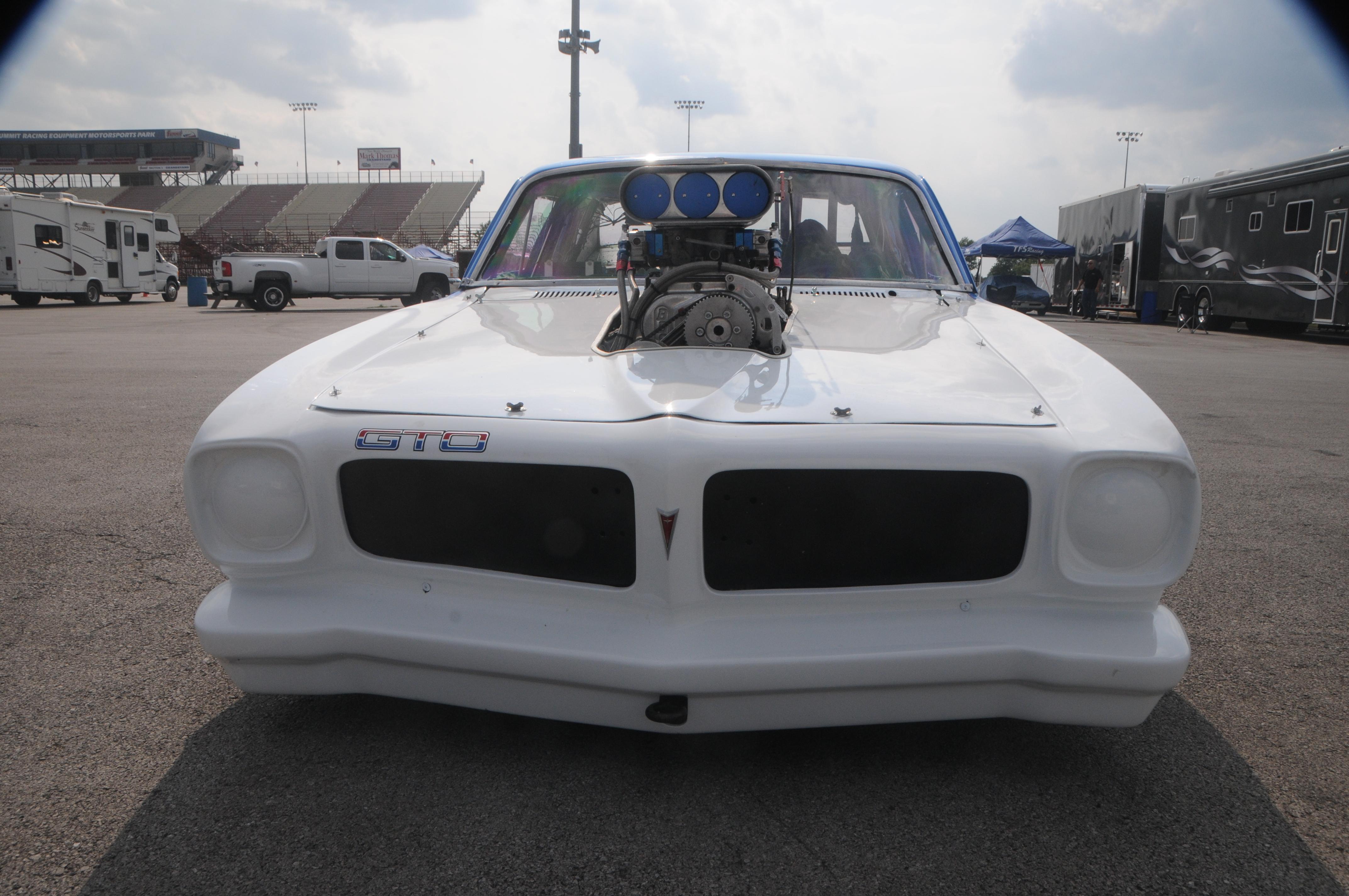 George Z 1974 Pontiac GTO front blower